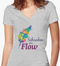 Schreibrausch - Schreiben im Flow Shirt mit V-Ausschnitt