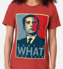 Das ist, was sie sagte - Michael Scott - das Büro US Vintage T-Shirt