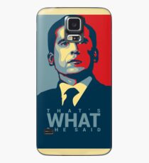 Funda/vinilo para Samsung Galaxy Eso es lo que ella dijo - Michael Scott - The Office US
