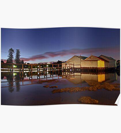 Mosman Bay Boatsheds - Western Australia  Poster