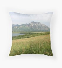 View from Middle Waterton Lake Throw Pillow
