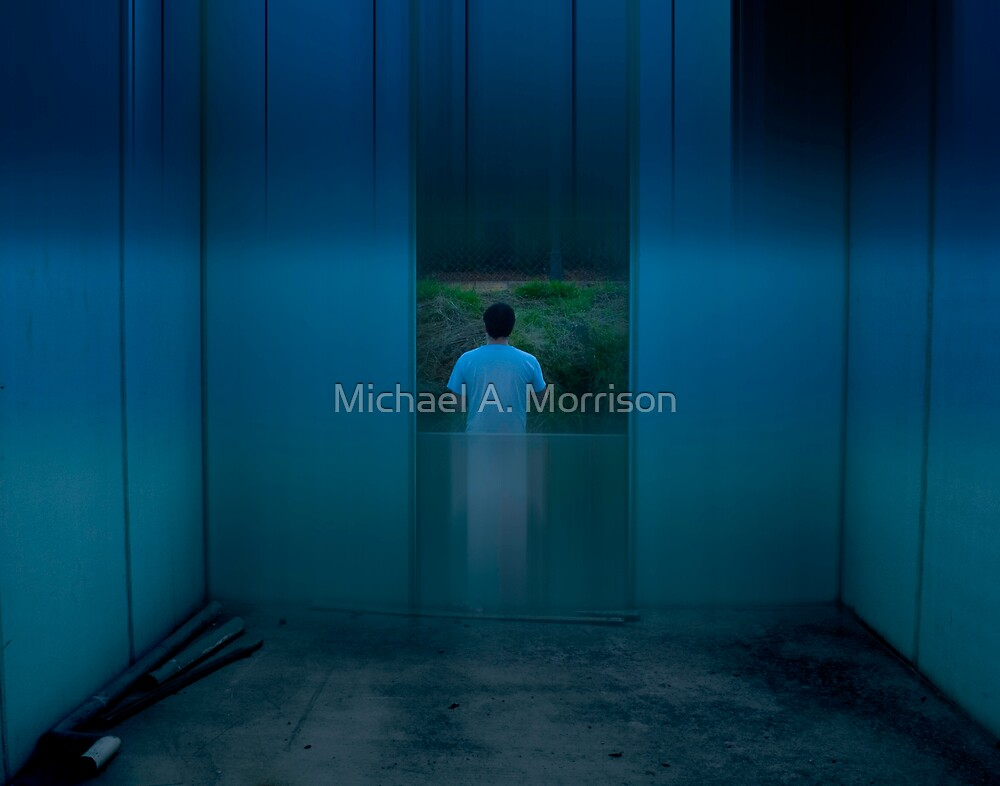 urb reverberation #8 (The Blue Room) by Michael A. Morrison