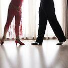 Argentine tango dancers by GemaIbarra