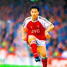 ANDERS LIMPAR ARSENAL THE GUNNERS LEGENDARY SWEDISH FOOTBALL PLAYER by westox