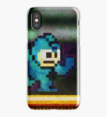 Mega Man retro painted pixel art iPhone Case/Skin