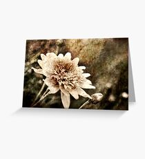 Flower Grunge Greeting Card
