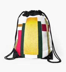 galloping stripes Drawstring Bag
