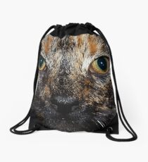 Minx the cat. Drawstring Bag