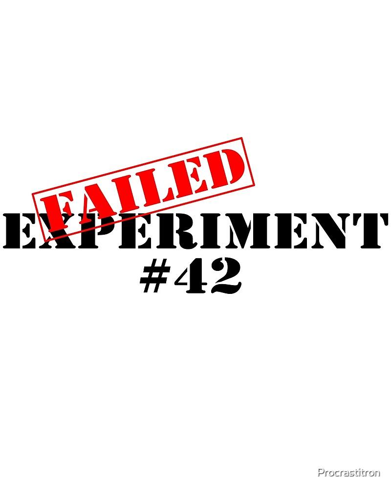 Failed Experiment 42 by Procrastitron