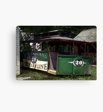 The Trolley Out Back Canvas Print