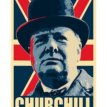 Winston Churhill Union Jack Propaganda Pop Art by idaspark