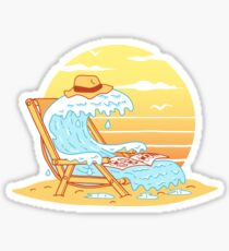 WAVE ON THE BEACH Sticker