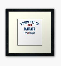 Usa Karate Design Property Of Karate Design Framed Print