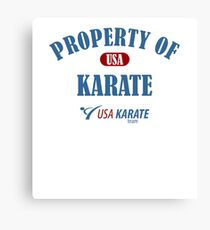 Usa Karate Design Property Of Karate Design Canvas Print