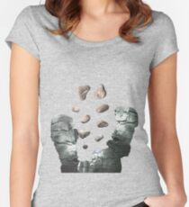 Silver Canyon (Lite) - ohms' Custom Worms Armageddon Level Women's Fitted Scoop T-Shirt