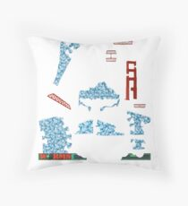 Snowmageddon - ohms' Custom Worms Armageddon Level Throw Pillow
