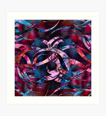 Colorful Abstract Maori curve shapes  Art Print
