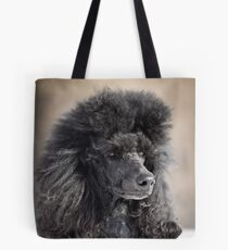 black poodle dog Tote Bag
