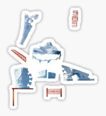 White Islands - ohms' Custom Worms Armageddon Level Sticker