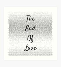 The End of Love Art Print