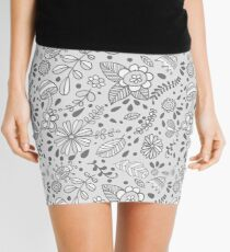 Cute floral seamless vector pattern Mini Skirt