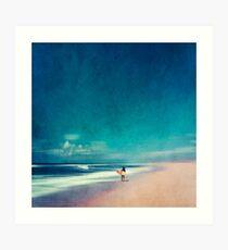 Summer Days - Going Surfing Art Print