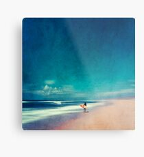 Summer Days - Going Surfing Metal Print