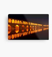 Si-o-Seh Pol (Bridge) - Isfahan - Iran Metal Print