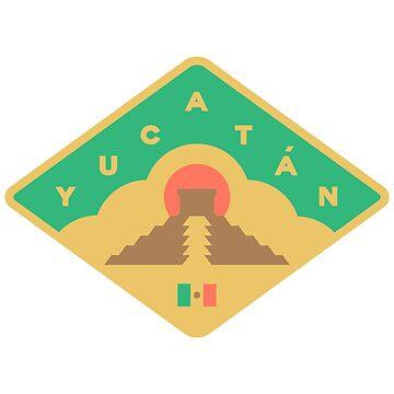Yucatan - Mexico - badge by JamesShannon