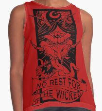 No Rest for the Wicked Contrast Tank