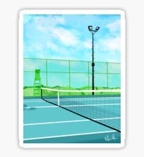 Tennisplatz Sticker