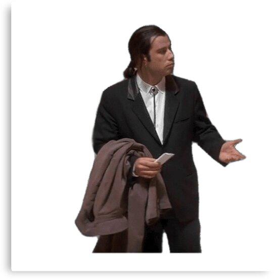 Hure John Travolta Meme lutscht schwarzen Schwanz