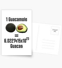 Guacamole Uses Avocado's Number Science Joke Postcards
