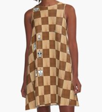 Game of Chess, #bishop, #capture, #castle, #check, #checkmate, #chess, #chessboard, #chessman A-Line Dress
