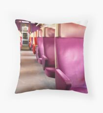 In the Train - TGV Seats Throw Pillow