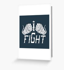 I Fight Hand Wraps Greeting Card