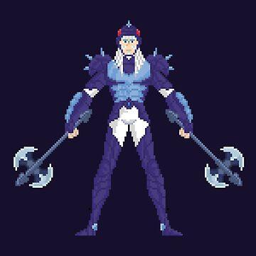 Phecda Thor - Saint Seya Pixel Art by Gwendal