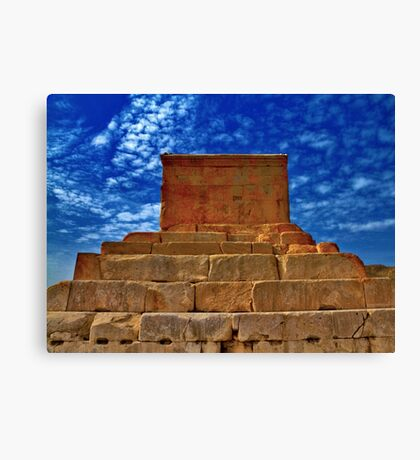 The Tomb of Cyrus The Great - Pasargadae Canvas Print