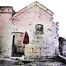 Sassi di Matera with red jacket by Giuseppe Cocco