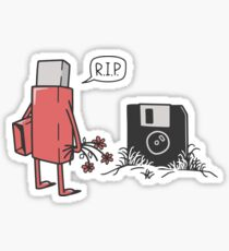RIP floppy Sticker