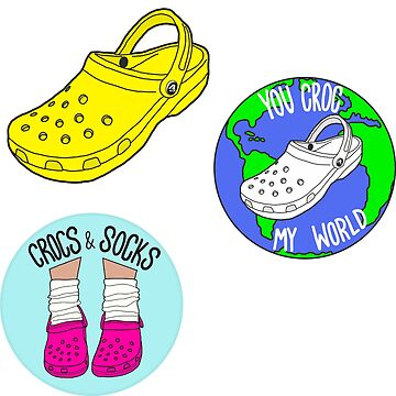 Crocs Sticker Pack by abbyconnellyy