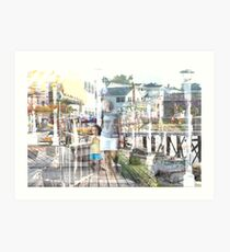 At The Boathouse Art Print