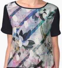 Abstract Watercolor Flowery - Floral Reef Chiffon Top
