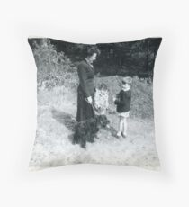 Family Outing 1958 Throw Pillow