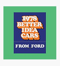 003 | 1978 Ford Matchbook Photographic Print