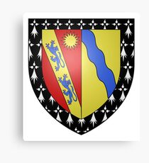 French France Coat of Arms 15971 Blason famille Nicolle du Gué Romain Cadet Canvas Print