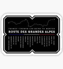 Route des Grandes Alpes Frankreich 2018 Design Sticker
