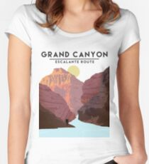 Grand Canyon Escalante Route Women's Fitted Scoop T-Shirt