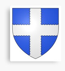 French France Coat of Arms 13411 Blason ville fr Le Lude Sarthe Canvas Print