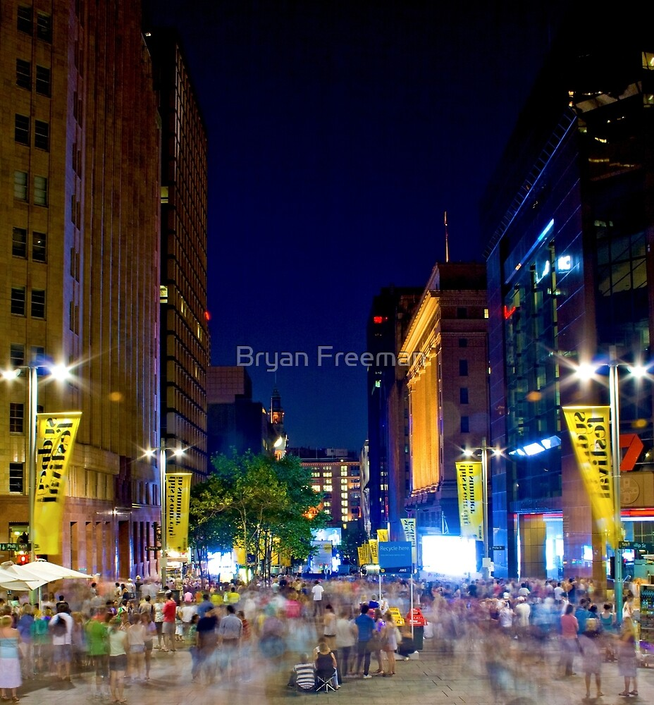 Martin Place - Sydney Festival First Night - Australia by Bryan Freeman